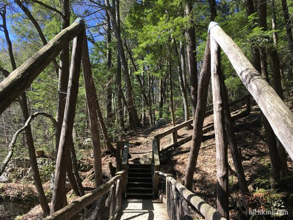 Bridge over Deer Leap Falls