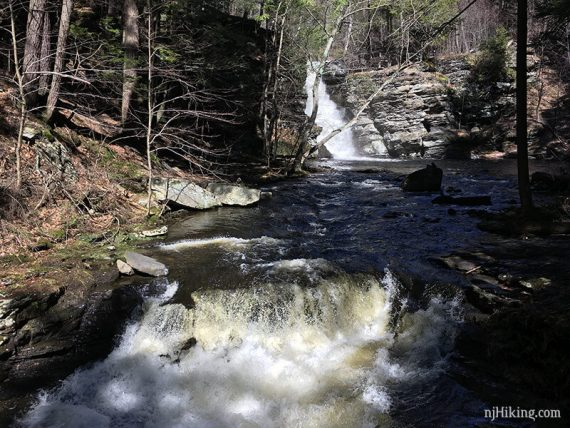 Fulmer Falls seen from a middle bridge