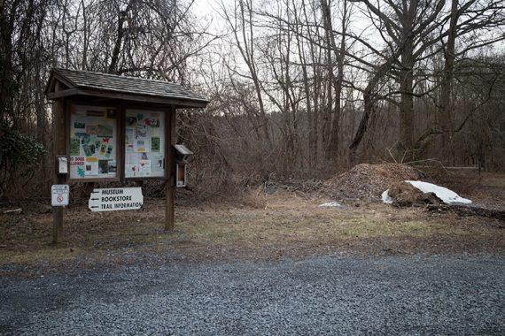 Trail kiosk.