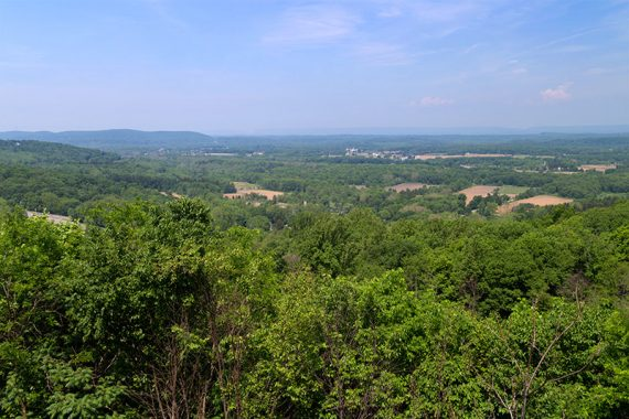 View from Scenic overlook on Rt. 80