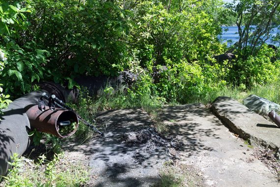 Pipe remains on side trail off of Pumphouse (ORANGE)