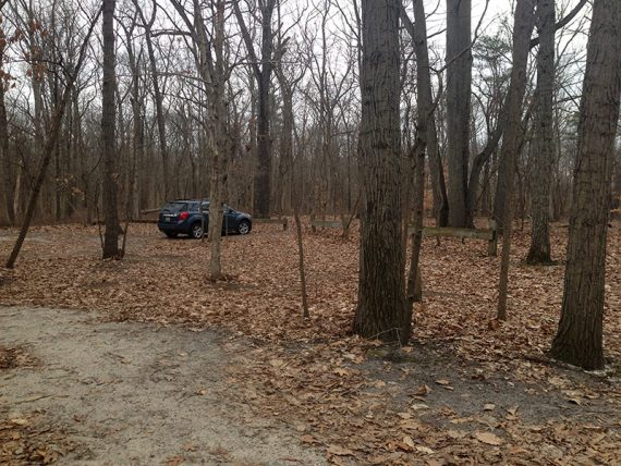 Parking area on Deacon - several spots tucked in the trees