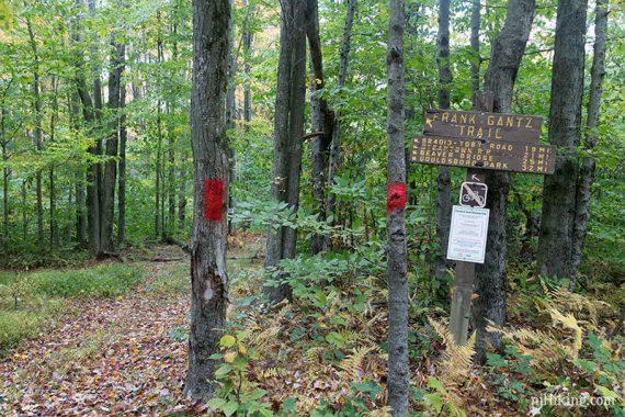 Pass the Frank Gantz trail