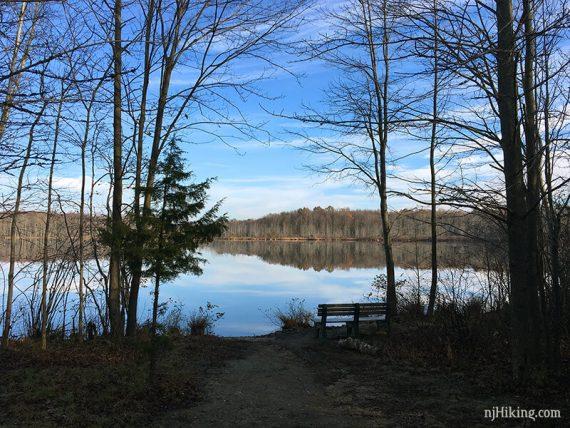 View along WHITE trail