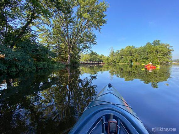 Nearing a bridge while in a kayak