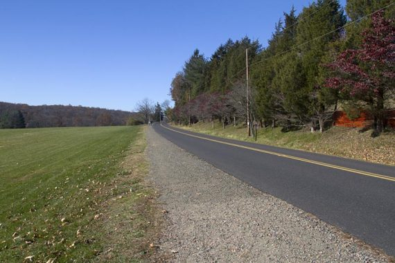 Follow the Perkiomen Trail along the road a bit