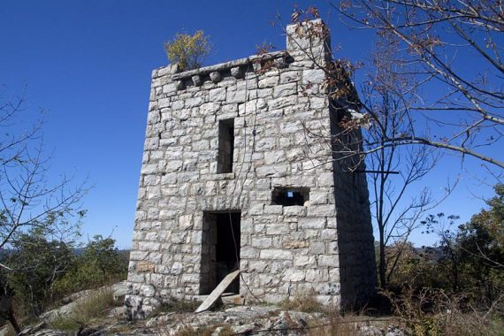 Tower ruins on the WHITE trail