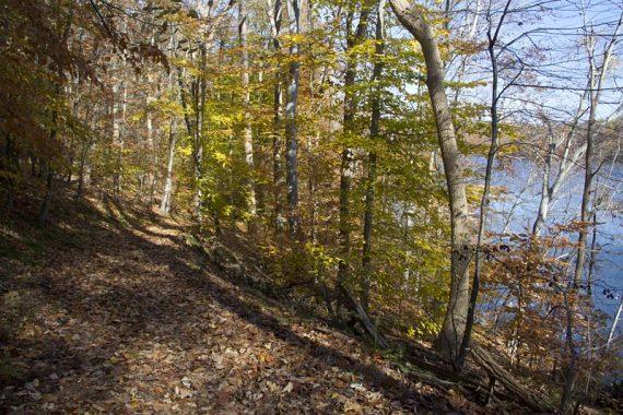 Blue Trail along the reservoir