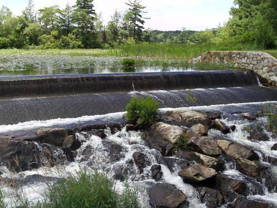 The dam on Wawayanda Lake.