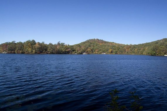 Ramapo Lake from the lakeshore path
