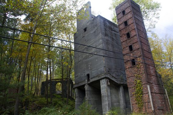 Remains of old furnace buildings