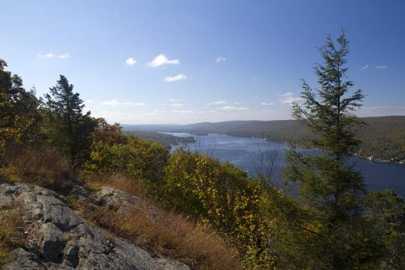 View of Greenwood Lake from Bare Rock viewpoint