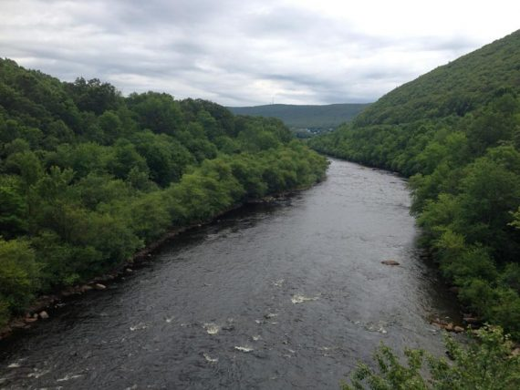 View of Lehigh River from a bridge.