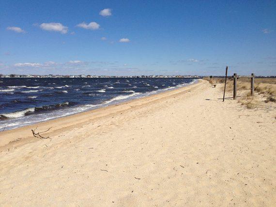 Skirting the beach again
