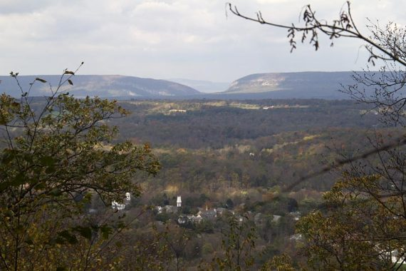 View of the Delaware Water Gap... Mt. Minsi on left, Mt. Tammany on right