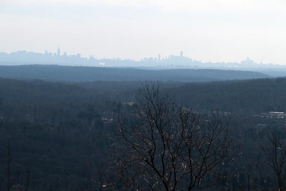 NYC Skyline from Mountain Trail