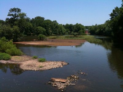 View of Carnegie Lake from along the towpath