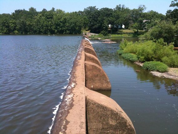 Carnegie Lake spillway