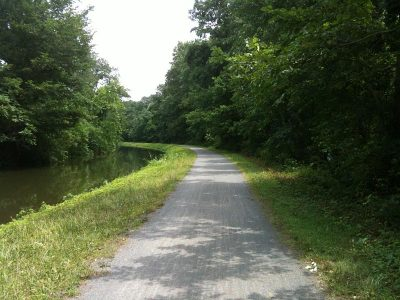 Towpath heading back on the NJ side