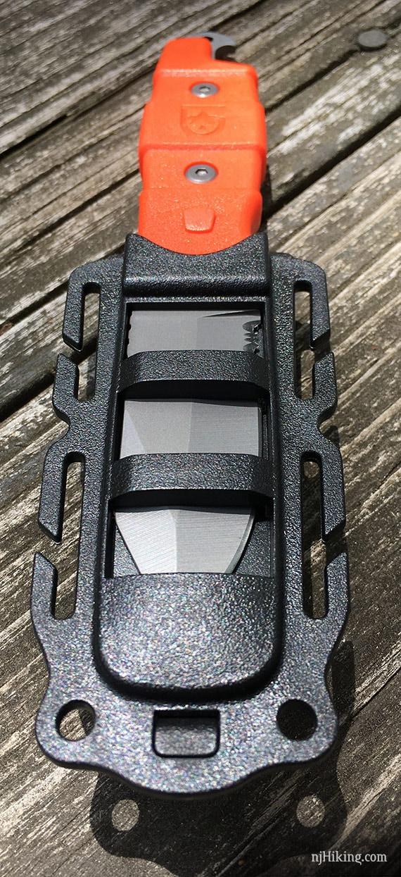 Buri knife inside case