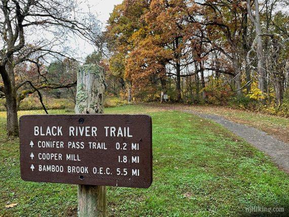 Black River Trail sign
