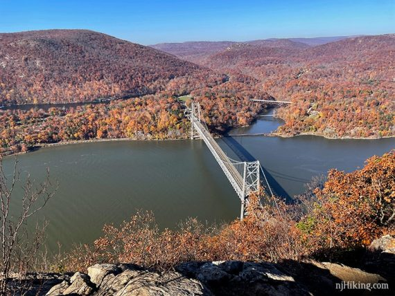 View from Anthony's Nose of fall foliage
