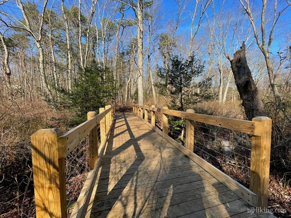 Fancy wooden bridge