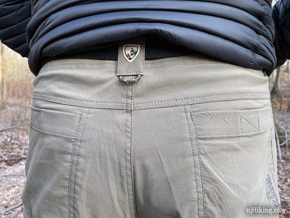 Back waist of pant