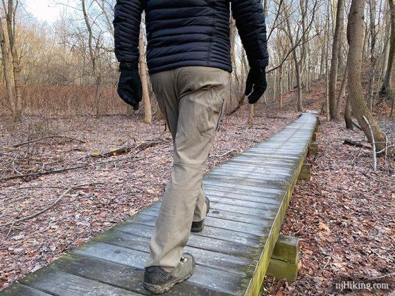 Back of Renegade Pant while hiking