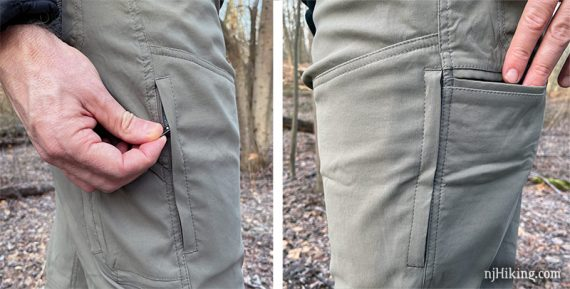 Pockets on the Renegade pant