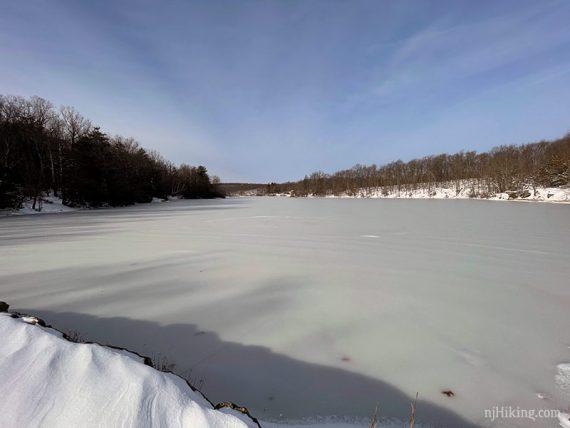Frozen Wawayanda Lake