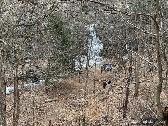Hemlock Falls from a distance