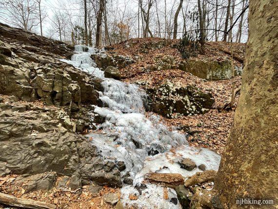 Hobble Falls frozen