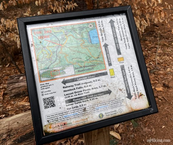 South Mountain Res trail sign