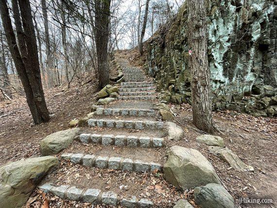 Stone steps near Hemlock Falls