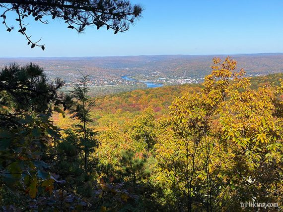 Port Jervis NY seen from the monument trail