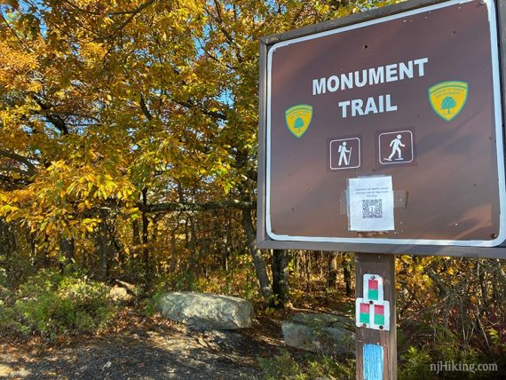 Monument Trail sign