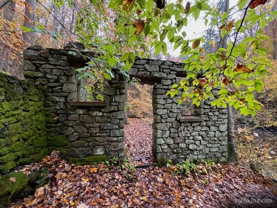 Doorway of a stone cottage