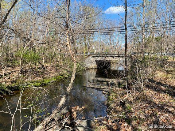 Road bridge over Ireland Brook
