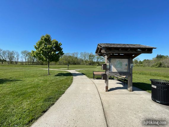 Big Brook Park trail kiosk