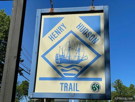 Henry Hudson trail sign