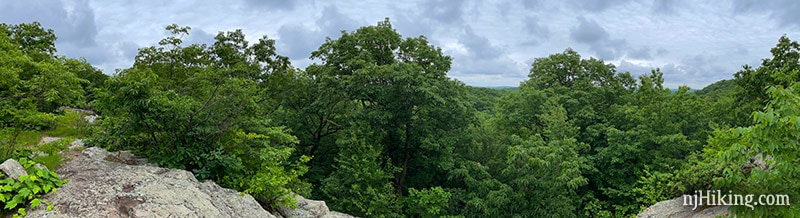 Panoramic view from Headley Overlook