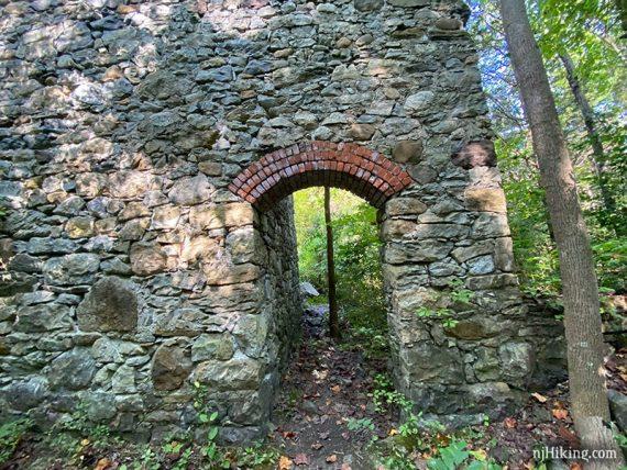 Brick arch over doorway
