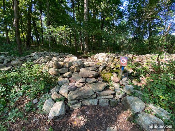 Stone steps on a trail