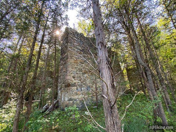 Tall stone wall