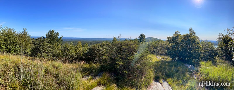 Panoramic view from the acropolis on the Appalachian Trail.
