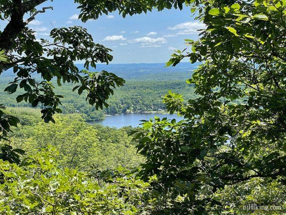 Lake Owassa seen through a break in the trees