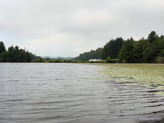 Aeroflex airport at the end of the lake