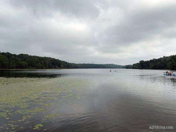 Kayakers on Lake Aeroflex