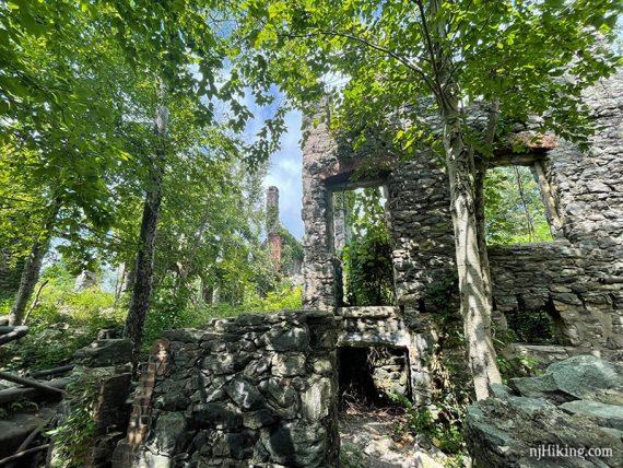 Stone walls of Van Slyke Castle